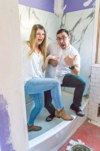Kids' Bathroom Renovation Progress - Bless'er House