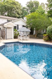 Swimming Pool Liner Makeover Reveal